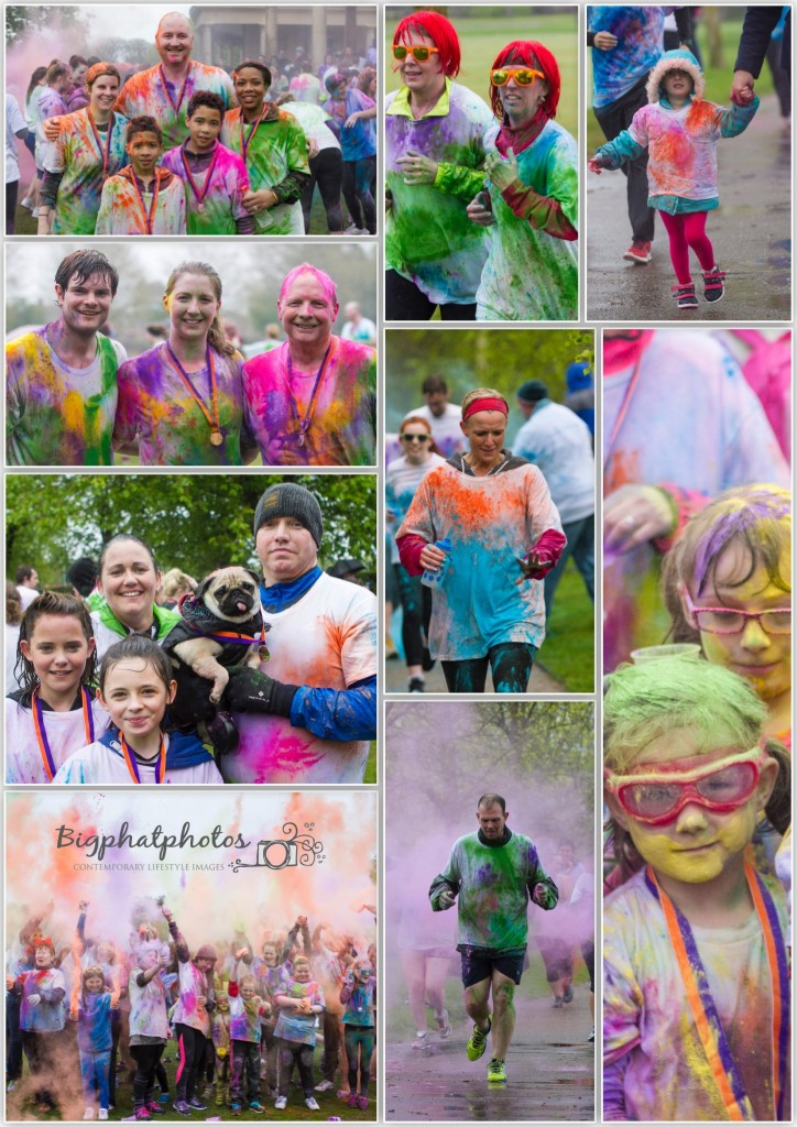 Lots of colour in the wet all for a great cause